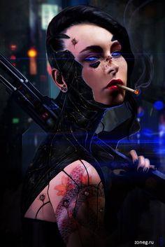 Сyberpunk Art – 109 фотографий