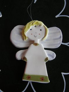 AngelCeramic Angel OrnamentGuardian by TatjanaCeramics on Etsy, $7.00