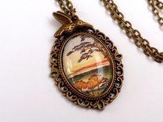 Edle Halskette in bronze mit japanischer von Schmucktruhe auf Etsy