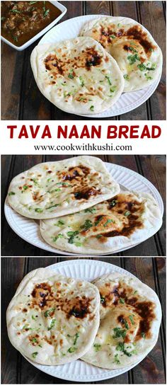 Tava Naan is a soft and chewy, delicious and super easy to make Indian flat bread recipe prepared on a cast iron skillet.