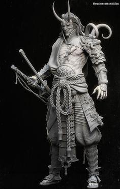 ArtStation - 庄炜WIP, 翼次方 Studio Zbrush Character, Character Modeling, 3d Character, Character Concept, Concept Art, Character Design, Arte Ninja, 3d Mode, Samurai Artwork