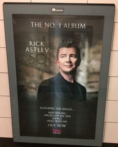 Rick Astley on the Tube - Photo by Nigel Moran Rick Astley, My Side, Pray, Musicals, Singing, Tube, Album, Movie Posters, Film Poster
