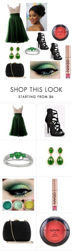 """Slytherin Prom"" by they-them-there ❤ liked on Polyvore featuring Stone Rose, Urban Decay, Serpui and NYX"