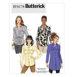 Sew-To-Fit: Butterick 5678- Shirt fever still going strong.
