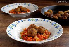 sojaturobie: Klopsiki z soczewicy i ciecierzycy z pomidorową salsą