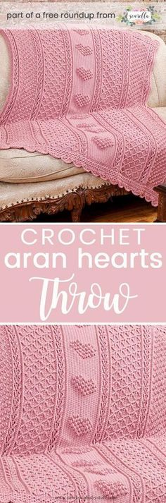 Baby Knitting Patterns Crochet this easy beginner Aran Hearts baby blanket from Red...