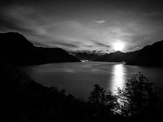 Picture taken in Norway. Black and White landscape photography. Sunrise Pictures, Black And White Landscape, New Instagram, Norway Nature, Nature Photos, Never, Moonlight, Landscape Photography, Sunset