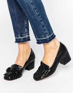 Office | Office Monty Buckle Fringe Mid Heeled Loafers