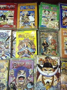 Various volumes of One Piece Manga Thailand Comic Con 2014