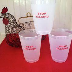 Stop Talking Shatterproof Cups Liquid Measuring Cup, Measuring Cups, Monogram Shop, East Hampton, Stop Talking, Paper Napkins, The Hamptons, Tableware, Gifts