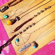 Boho necklaces... #bohochic #bohemian #jewelry