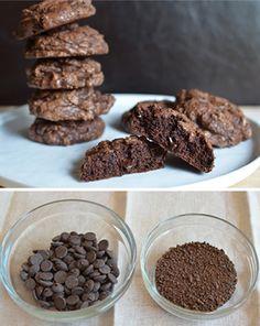 Galletas de café y chocolate