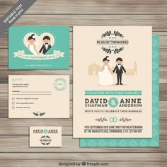 Collection des invitations de mariage