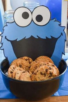 Check out this cool Cookie Monster 1stbirthday party! The cookies are wonderful! See more party ideas and share yours at CatchMyParty.com #catchmyparty #partyideas #cookiemonster #cookiemonsterparty #boy1stbirthdayparty Monster Birthday Parties, Girl Birthday, Elmo Cake, Cookie Monster Party, Sesame Street Party, Birthday Cookies, 1st Birthdays, Fun Cookies, Candy Recipes