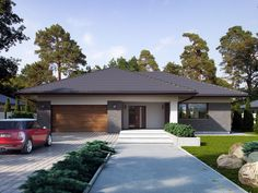 My House Plans, Modern House Plans, Modern House Design, Home Garden Design, Dream Home Design, Morrocan House, Beautiful House Plans, Modern Bungalow House, Spanish House
