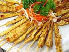 Delicious recipe for chicken satay this chicken satay recipe is a thai chicken satay recipe forumfinder Images