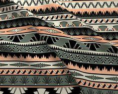 Art Deco Stripes Fabric - Art Deco Stripes - Salmon By Ravynka - Art Deco Stripes Geometric Retro Cotton Fabric By The Yard With Spoonflower