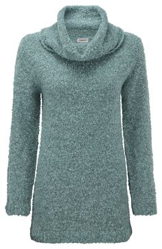 Damart aqua cowl neck sweater, product code T115. www.damart.co.uk