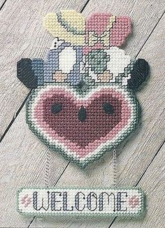 **COUNTRY WELCOME TO STITCH** PATTERN ONLY**PLASTIC CANVAS PATTERN**
