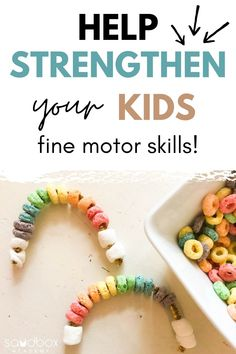 Discover fine motor skills examples and activities you can do with your child to help strengthen their hand muscles through play. Occupational Therapy Activities, Motor Skills Activities, Learning Resources, Fine Motor Skills Development, Child Development, Sensory Bins, Kids Playing, Growing Up, Have Fun