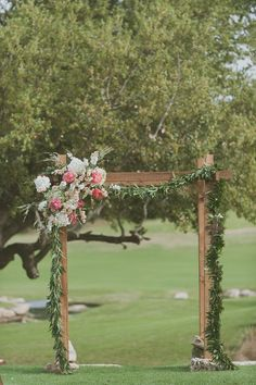 Simple ceremony backdrop
