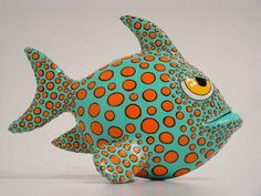 Papier Mache Fish by Nassos Karabatsos, via Behance                                                                                                                                                     More
