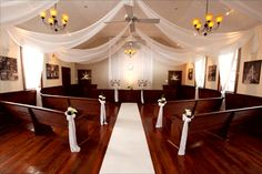 W Drapings Florida: Ceiling Drapings and Wedding Chiffon: W Drapings Florida teams up with Winter Park Wedding Chapel for Custom Wedding Decor and Chiffon Ceiling Treatments.