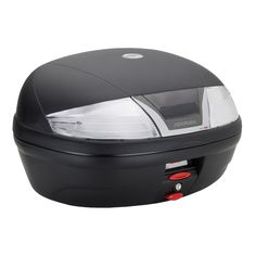 K46 Tech capacity 46 ltrs, black colour, equipped with transparent reflectors, universal plate K628 included.