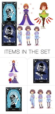 """""""chara and frisk"""" by arieldixon on Polyvore featuring art"""
