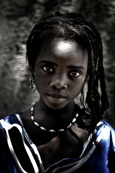 ♀ Portrait face girl Africa: Mali