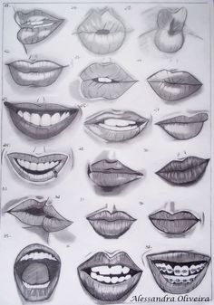 Pencil sick in 2019 mouth drawing, drawings, art sketches. Smile Drawing, Mouth Drawing, Nose Drawing, Art Drawings Sketches Simple, Pencil Art Drawings, Drawing Ideas, Drawing Tips, Realistic Drawings Of Eyes, Realistic Rose