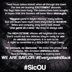 'Twas hours before kickoff... (via Baylor__Nation on Twitter) #SicEm #SicOU