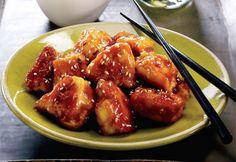 poulet general tao. J ai essayė. Wow très bon. Toute la famille à aimé. Mais j ai doublé la quantité de sauce.