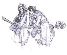 Ginny and Harry by Burdge
