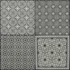 Meer dan 1000 idee n over zwart wit badkamers op pinterest witte badkamers badkamer en tegel - Oude patroon tegel ...