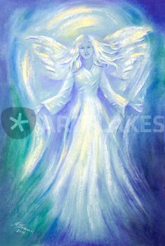 """Engel der Liebe"" Painting art prints and posters by Marita Zacharias -  ARTFLAKES.COM"