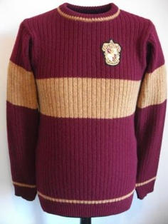 "OFFICIAL WARNER BROS. HARRY POTTER GRYFFINDOR QUIDDITCH SWEATER | 100% LAMBSWOOL | Purchase your very own piece of ""Harry Potter""  Movie Memorabilia and bring the magic and sorcery of Hogwarts home with you from the silver screen with our Officially Licensed Warner Bros. Gryffindor Quidditch Sweater."