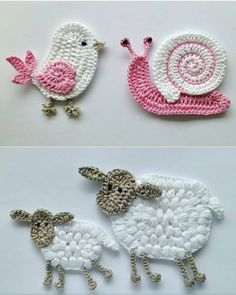 ✔ Handmade Toys For Babies Free Pattern Crochet Elephant Pattern, Crochet Applique Patterns Free, Crochet Motifs, Crochet Flower Patterns, Baby Knitting Patterns, Crochet Doilies, Crochet Flowers, Free Pattern, Elephant Applique