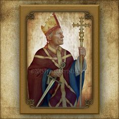 97e2abf41e9 St. Thomas Becket Wood Icon  amp  Holy Card GIFT SET Plaque  3217 Gifts