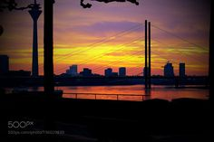 Sunset Düsseldorf by homoelle #travel #traveling #vacation #visiting #trip #holiday #tourism #tourist #photooftheday #amazing #picoftheday