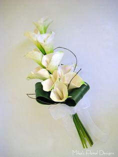 Silk Wedding Flowers | Real Touch Calla Lily Arm Sheaf Bouquet