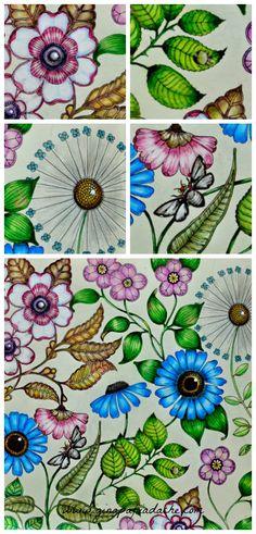 Ola Pessoal Minha Filha Carol Tambem Esta Pintando O Livro Jardim Secreto Ela Terminou Secret GardensNature JournalAdult ColoringColoring