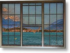 Lago Di Garda Metal Print featuring the photograph Summer Imagination by Hanny Heim, Snowbird Photography #italy #sirmione #lake #gardasee
