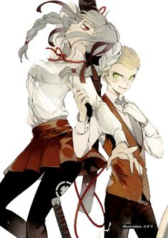 Fuyuhiko Kuzuryuu and Peko Pekoyama - Danganronpa 2: Goodbye Despair
