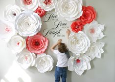 A personal favourite from my Etsy shop https://www.etsy.com/uk/listing/273377250/paper-flower-backdrop-giant-paper paper flowers backdrop , big paper flowers, giant paper flowers, large paper flowers , oversized paper flowers, huge paper flowers, big flowers from paper , events decor