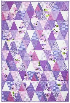 "= free pattern = Prism quilt, 40 x 60"", by Marinda Stewart for Michael Miller Fabrics"