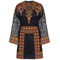Valentino Embroidered Guipure Lace Dress