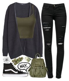 """""""Teenage Dirt Bag #67"""" by jlol ❤ liked on Polyvore featuring MANGO, Vans, Frame Denim and Topshop"""