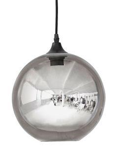 Scopri Sospensione Circle -/ Ø 24 cm - Vetro a specchio, Grigio fumé di House…