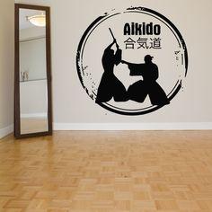 Wall Room Decor Art Vinyl Sticker Mural Decal Aikido Martial Art Big Large AS727
